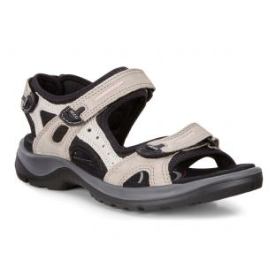 ECCO Ladies Shoes Offroad Atmosp/Ice With Black Nub Nub Sandals